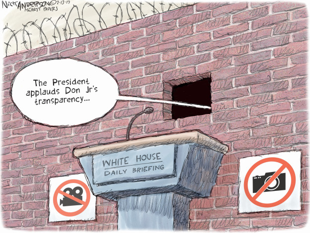 Cartoonist Nick Anderson  Nick Anderson's Editorial Cartoons 2017-07-13 Donald
