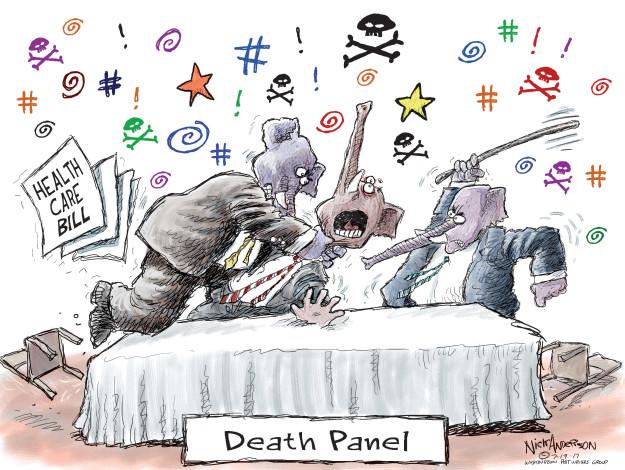 Cartoonist Nick Anderson  Nick Anderson's Editorial Cartoons 2017-07-19 health care policy