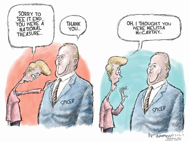 Cartoonist Nick Anderson  Nick Anderson's Editorial Cartoons 2017-07-23 Donald