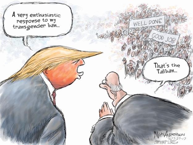 Cartoonist Nick Anderson  Nick Anderson's Editorial Cartoons 2017-07-27 defense