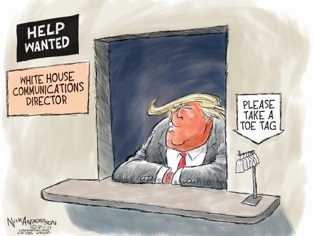 Cartoonist Nick Anderson  Nick Anderson's Editorial Cartoons 2017-08-01 Donald
