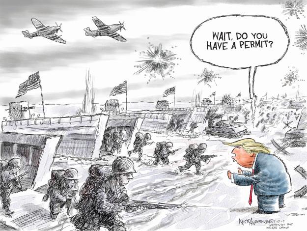Cartoonist Nick Anderson  Nick Anderson's Editorial Cartoons 2017-08-17 Donald