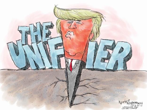 Cartoonist Nick Anderson  Nick Anderson's Editorial Cartoons 2017-08-24 Donald