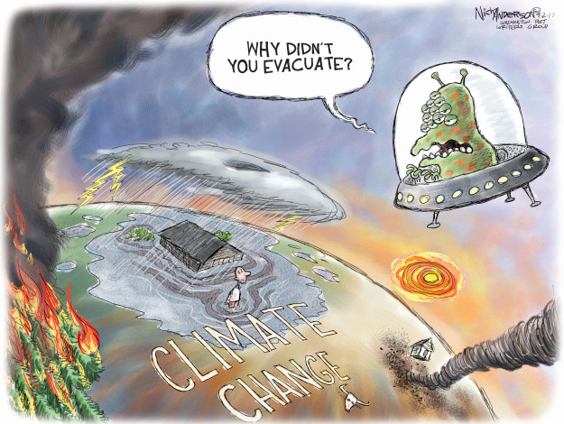 Why didnt you evacuate? Climate change.