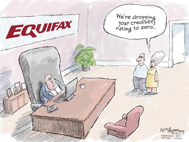 Cartoonist Nick Anderson  Nick Anderson's Editorial Cartoons 2017-09-09 social security