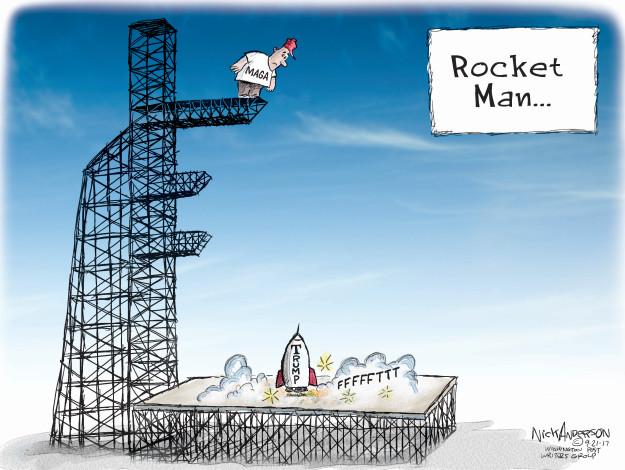 Cartoonist Nick Anderson  Nick Anderson's Editorial Cartoons 2017-09-21 Donald