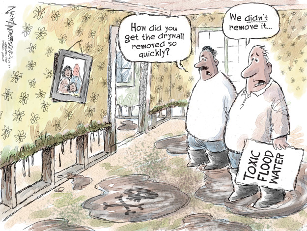 Cartoonist Nick Anderson  Nick Anderson's Editorial Cartoons 2017-09-22 disease