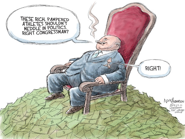 Cartoonist Nick Anderson  Nick Anderson's Editorial Cartoons 2017-09-27 influence