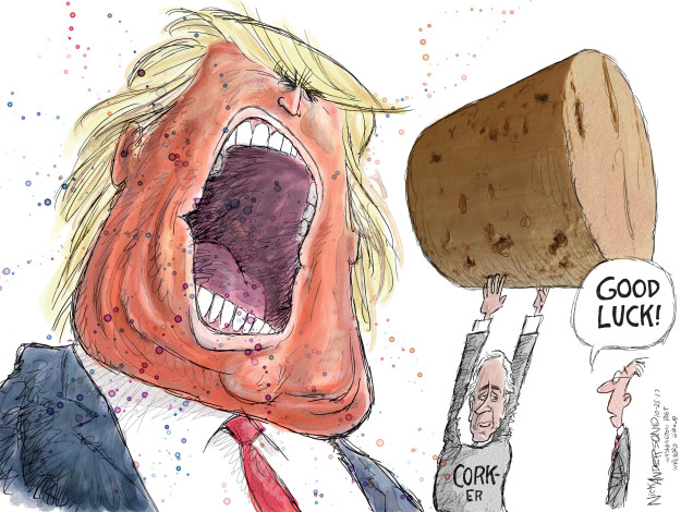 Cartoonist Nick Anderson  Nick Anderson's Editorial Cartoons 2017-10-25 rhetoric