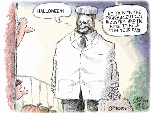 Cartoonist Nick Anderson  Nick Anderson's Editorial Cartoons 2017-10-28 abuse