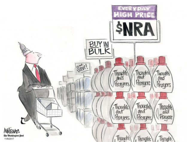Cartoonist Nick Anderson  Nick Anderson's Editorial Cartoons 2017-11-06 gun violence