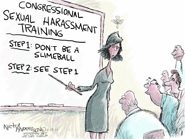 Cartoonist Nick Anderson  Nick Anderson's Editorial Cartoons 2017-11-17 sexual