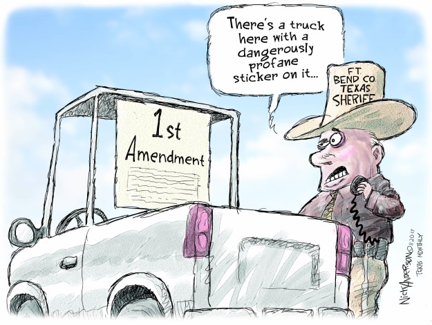 Cartoonist Nick Anderson  Nick Anderson's Editorial Cartoons 2017-11-20 freedom