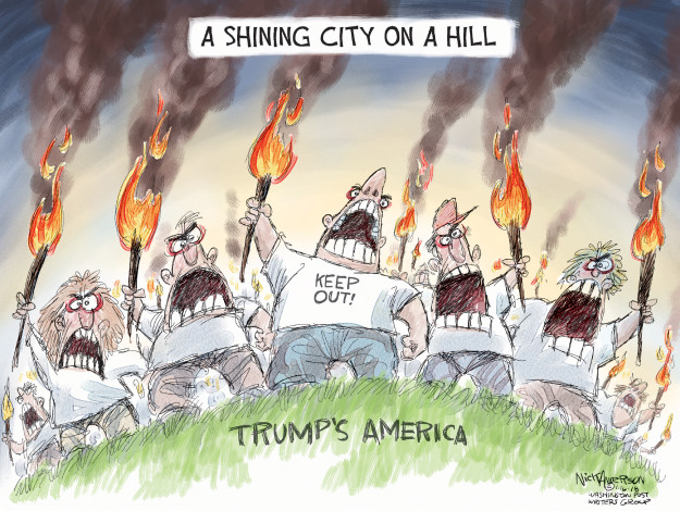 A shining city on a hill. Trumps America.