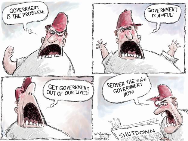 Cartoonist Nick Anderson  Nick Anderson's Editorial Cartoons 2018-01-23 contradiction