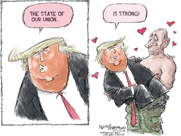 Cartoonist Nick Anderson  Nick Anderson's Editorial Cartoons 2018-01-31 Vladimir Putin