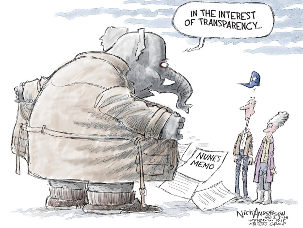 Cartoonist Nick Anderson  Nick Anderson's Editorial Cartoons 2018-02-03 republican politician