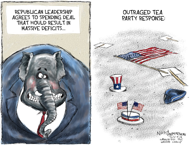 Cartoonist Nick Anderson  Nick Anderson's Editorial Cartoons 2018-02-09 tea party