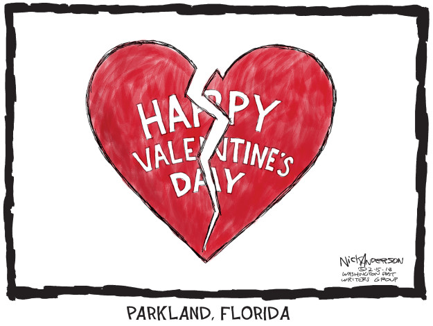 Nick Anderson  Nick Anderson's Editorial Cartoons 2018-02-15 Valentine's Day