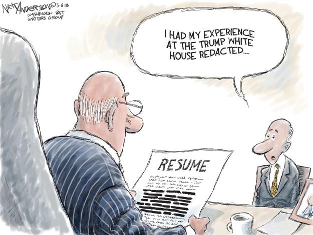 Cartoonist Nick Anderson  Nick Anderson's Editorial Cartoons 2018-03-08 Donald Trump