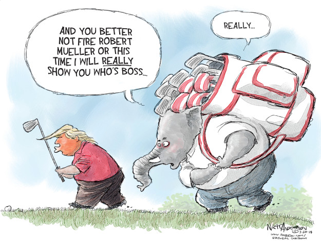 Cartoonist Nick Anderson  Nick Anderson's Editorial Cartoons 2018-03-20 republican politician