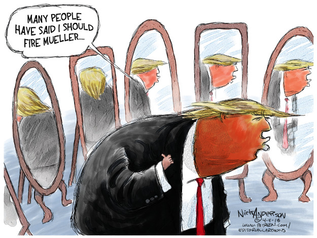 Cartoonist Nick Anderson  Nick Anderson's Editorial Cartoons 2018-04-11 Michael