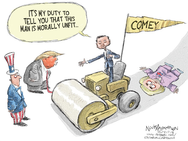 Cartoonist Nick Anderson  Nick Anderson's Editorial Cartoons 2018-04-17 2016 election