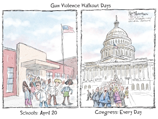 Nick Anderson  Nick Anderson's Editorial Cartoons 2018-04-21 legislative