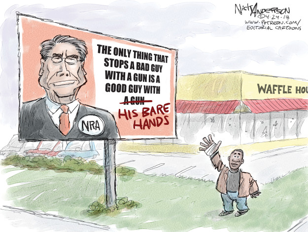 Cartoonist Nick Anderson  Nick Anderson's Editorial Cartoons 2018-04-24 NRA