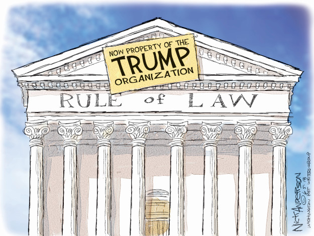 Nick Anderson  Nick Anderson's Editorial Cartoons 2018-06-05 rule of law