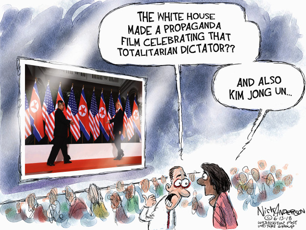 The White House made a propaganda film celebrating that totalitarian dictator?? And also Kim Jong Un …