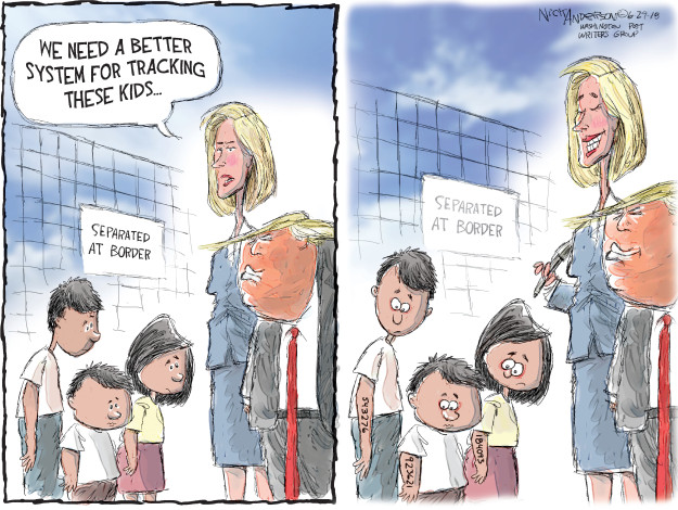 Nick Anderson  Nick Anderson's Editorial Cartoons 2018-06-29 family separation