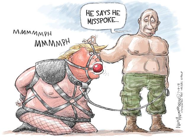 Cartoonist Nick Anderson  Nick Anderson's Editorial Cartoons 2018-07-19 Vladimir Putin