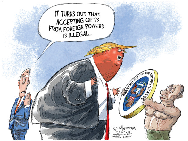 Cartoonist Nick Anderson  Nick Anderson's Editorial Cartoons 2018-07-26 election interference