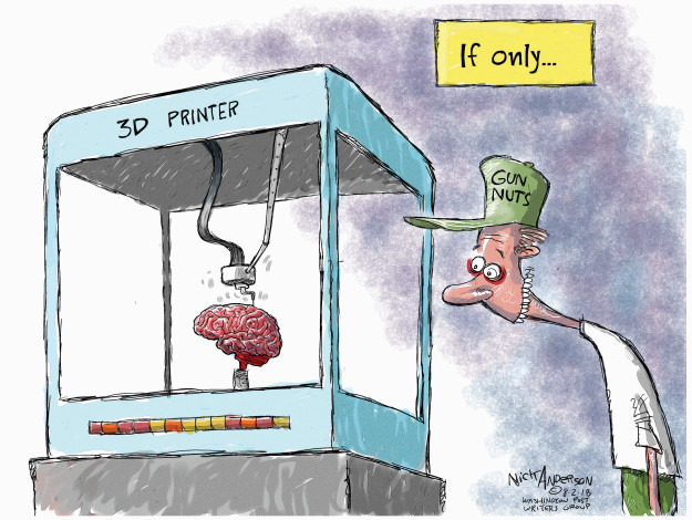 Nick Anderson  Nick Anderson's Editorial Cartoons 2018-08-02 3-D printer