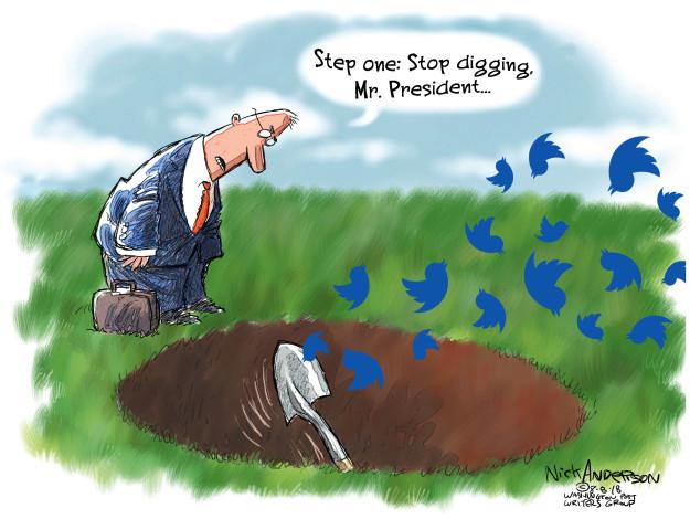 Cartoonist Nick Anderson  Nick Anderson's Editorial Cartoons 2018-08-08 stop