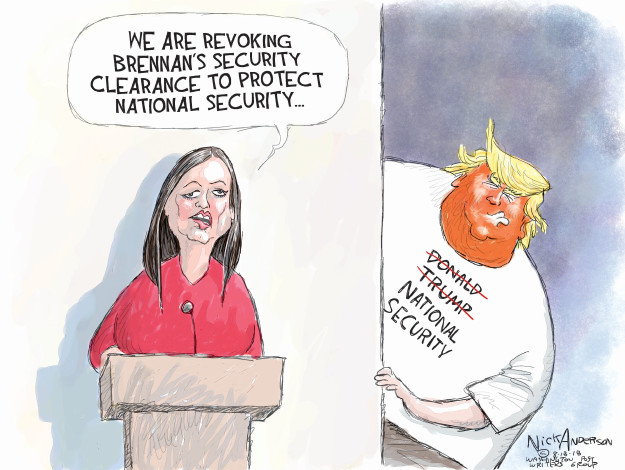 Cartoonist Nick Anderson  Nick Anderson's Editorial Cartoons 2018-08-18 national security