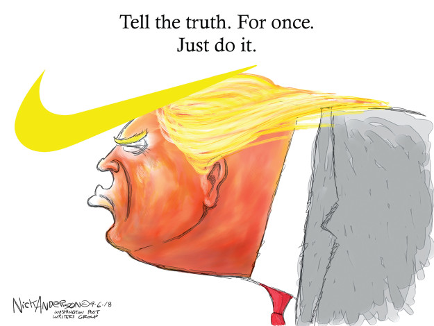 Nick Anderson  Nick Anderson's Editorial Cartoons 2018-09-06 Donald Trump hair