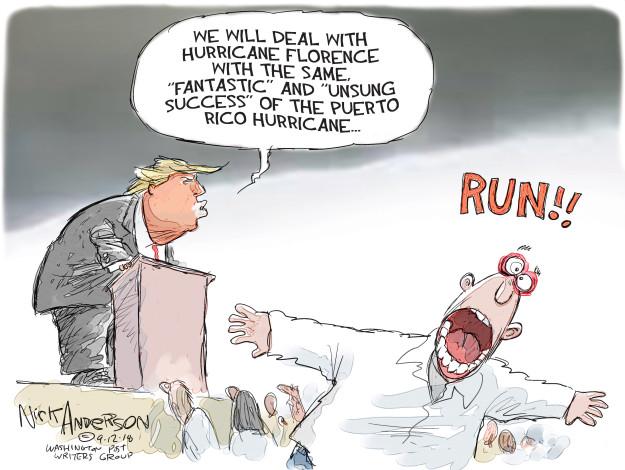Nick Anderson  Nick Anderson's Editorial Cartoons 2018-09-12 Hurricane Katrina aftermath