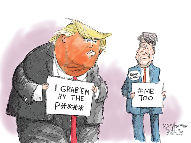 Cartoonist Nick Anderson  Nick Anderson's Editorial Cartoons 2018-09-21 accusation