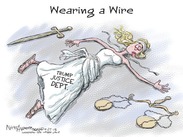 Cartoonist Nick Anderson  Nick Anderson's Editorial Cartoons 2018-09-25 Donald Trump Lawyers