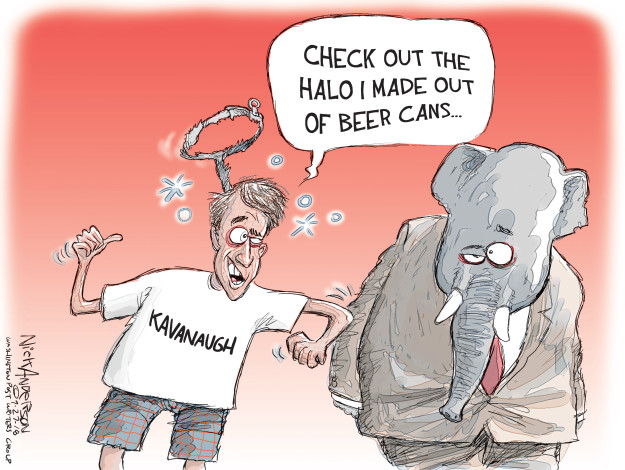 Cartoonist Nick Anderson  Nick Anderson's Editorial Cartoons 2018-09-27 republican politician