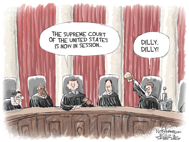 Nick Anderson  Nick Anderson's Editorial Cartoons 2018-10-10 judge