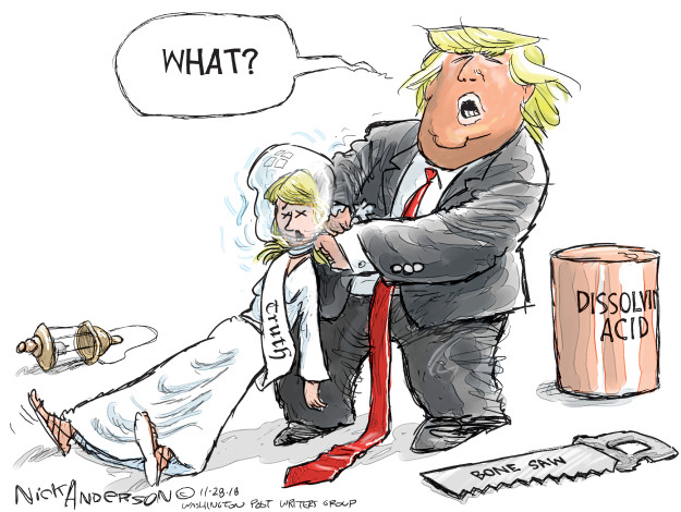 Cartoonist Nick Anderson  Nick Anderson's Editorial Cartoons 2018-11-25 media