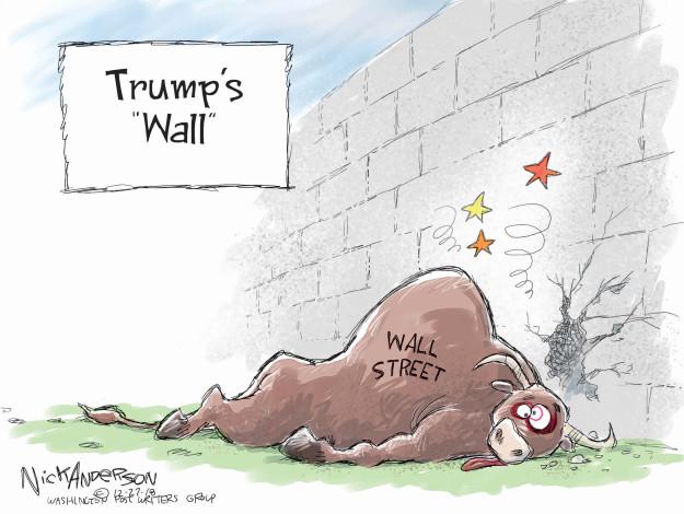 Cartoonist Nick Anderson  Nick Anderson's Editorial Cartoons 2018-12-27 economic policy