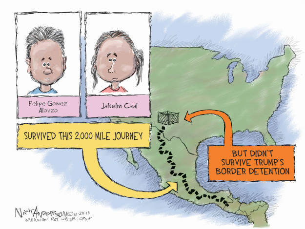 Nick Anderson  Nick Anderson's Editorial Cartoons 2018-12-28 migrant children