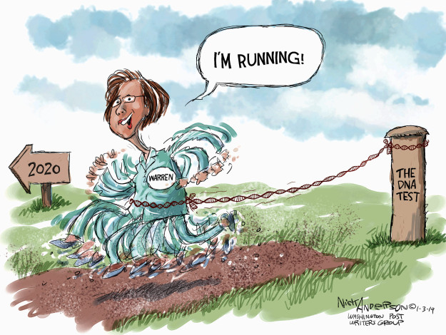 Nick Anderson  Nick Anderson's Editorial Cartoons 2019-01-03 democratic candidate