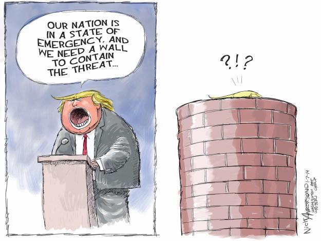Cartoonist Nick Anderson  Nick Anderson's Editorial Cartoons 2019-01-07 Presidency