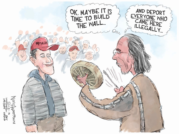 Ok. Maybe it is time to build the wall … And deport everyone who came here illegally … #MAGA
