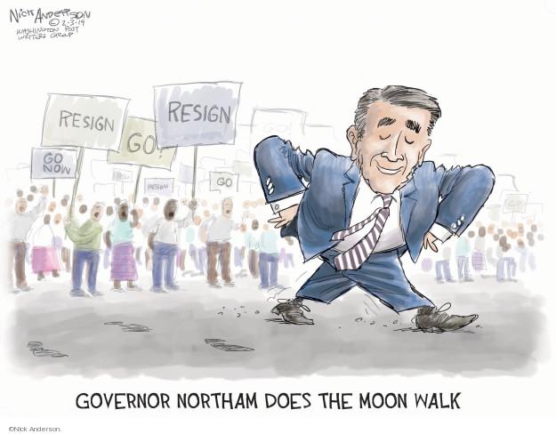 Cartoonist Nick Anderson  Nick Anderson's Editorial Cartoons 2019-02-03 governor